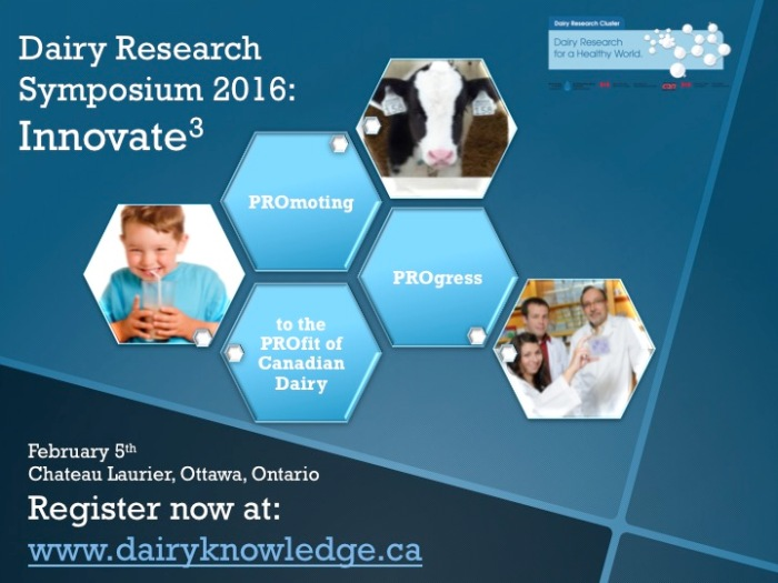 Innovate3: Dairy Research Symposium 2016 – February 5, 2016